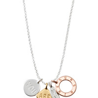 Silver, Gold & Rose Gold Charm Necklace   You Are My Sunshine Necklace   Stella & Dot