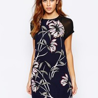 Warehouse | Warehouse Wallpaper Printed Dress at ASOS