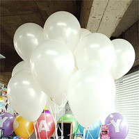 10pcs/lot White 10inch Matte Latex Balloon 21 Colors Inflatable Round Air Balls Wedding Happy Birthday Party Balloons Decoration