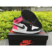 Air Jordan 1 Gs Valentines Day Women Basketball Shoes