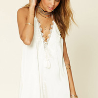 Crochet Halter Slip Dress