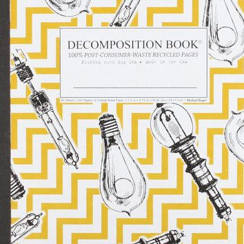 Bright Ideas Decomposition Book: College-ruled Composition Notebook With 100% Post-consumer-waste Recycled Pages