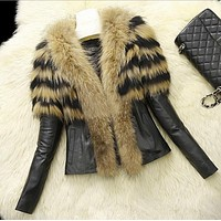 Autumn and winter new imitation scorpion wool sheep leather simulation leather leather fashion sale faux fur coat