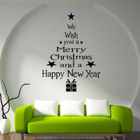 Wall Decor Christmas Blessings Art Wall Stickers Home Decor Bedroom Living Room Wall Decoration Wall Decals Poster D6