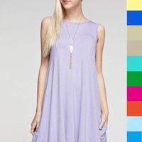 Sleeveless Tunic Dress in 20 Colors