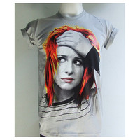 Hayley Williams Paramore pop punk emo singer White or Grey T-Shirt S-XL