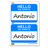 Antonio Hello My Name Is - Sheet of 2 Stickers