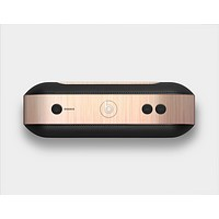 The Rose Gold Brushed Surface Skin Set for the Beats Pill Plus