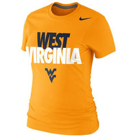 West Virginia Mountaineers Nike Women's Local Slim Fit T-Shirt – Yellow