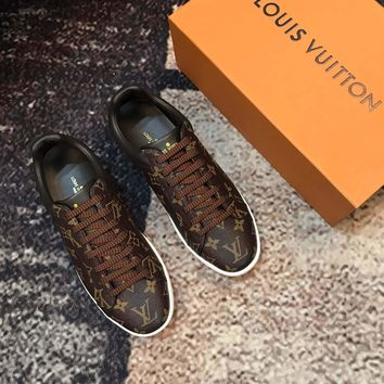 LV Louis Vuitton Man Fashion Casual Flats Sneakers Sport Shoes