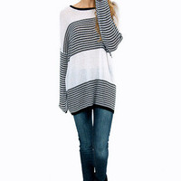 Striped Stripe Sweater $52