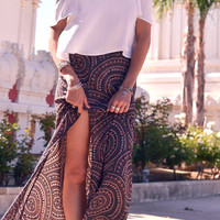 Leone Maxi Skirt in Dreamcatcher   Lace & Whiskey Clothing   Bohemian Inspired Dresses, Rompers, Tops, Shorts, Cardigans, and More