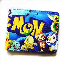 Cartoon wallet / Dragon Ball Z / One Piece / Naruto / Fairy Tail / Death Note / multi-style short wallet men and women