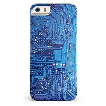 Blue Cirtcuit Board V1 iPhone 5/5s or SE INK-Fuzed Case