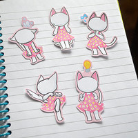 draw-your-own-face Animal Crossing Blanca stickers (25 pack)