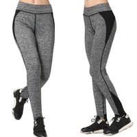 Women's Fashion High Waist Stretch Cotton Sweatpants Jogging Wearing Ladies Yoga Pants Gym Sports And Fitness Candy Color Capris Leggings = 4747034884