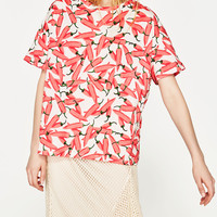 PRINTED T - SHIRT-NEW IN-TRF | ZARA United States