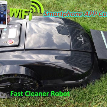 Newest 4th Generation Smartphone WIFI APP Control Intelligent Robot Lawn Mower With Newest Subarea FunctionWater-Proof Charger
