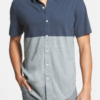 Men's RVCA 'Smoothed Out' Slim Fit Short Sleeve Colorblock Woven Shirt