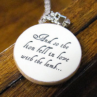 Romantic Twilight Necklace With Quote And so the by BookishCharm