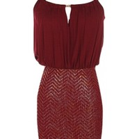 Burgundy Chevron Dress