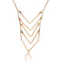 Crystal Castles Necklace - One Size / Gold