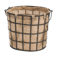Lined Industrial Metal Storage Basket - Back To Campus - T.J.Maxx