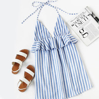 Halter Striped Sundress