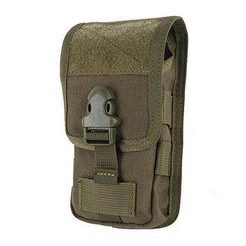 Case Cover Mobile Phone Coque Military Tactical Camo Belt Pouch Bag attachment Backpack