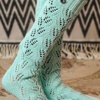 Mint Boot Socks