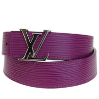 Authentic LOUIS VUITTON Ceinture Belt Epi Leather Purple Spain 80/32 62BG532