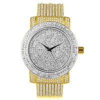 ICE MASTER CZ WATCH BAND WITH FULLY ICED OUT DIAL