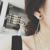 Korean Stylish Tassels Strong Character Earrings [10399364756]