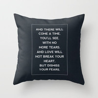Mumford & Sons / After The Storm Throw Pillow by Zyanya Lorenzo | Society6