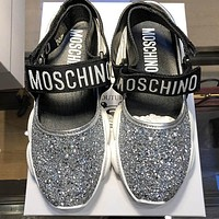 Moschino Teddy Run Glitter Sandals
