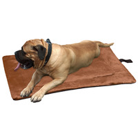 Evelots Self Heating Pet Bed Pad, Cats & Dogs, Soft, Brown, Non Electric, Large