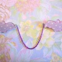 Sweater Guard, Collar Clips, Cardigan Clips, Pastel Heart Bats