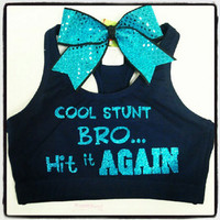 Cool Stunt Bro Hit It Again SportsBra With Matching Sequins Bow