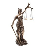 Blind Lady of Justice (Goddess Justicia), Bronze Finish 18H