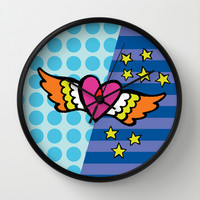 Kisses Even To The Air Are Beautiful Wall Clock by Gigglebox