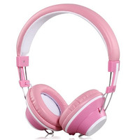YongLe IP805 Fashionable 3.5 mm On-ear Headphones with Microphone (Pink)