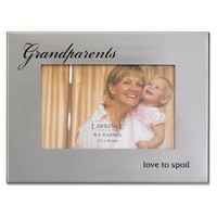 Lawrence Frames Brushed Silver Metal 4 by 6, Grandparents Picture Frame
