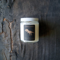 This Land: Otherworldy Soy Candle in Glass Jar, 5 ounces, Apple and Cypress Scent, Cotton and Wood Wick Available
