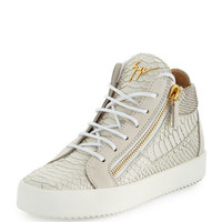 Giuseppe Zanotti May London Ofelia High-Top Sneaker, Milk