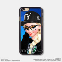 Elsa Punk Disney Princess Starbucks Free Shipping iPhone 6 6Plus case iPhone 5s case iPhone 5C case iPhone 4 4S case Samsung galaxy Note 2 Note 3 Note 4 S3 S4 S5 case 818