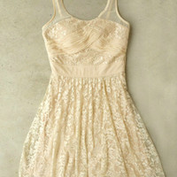 Ivory Lace Soiree Dress [4181] - $42.00 : Vintage Inspired Clothing & Affordable Dresses, deloom | Modern. Vintage. Crafted.