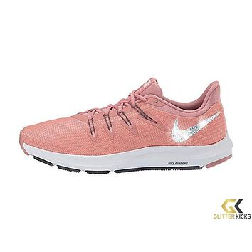 Womens Nike Quest + Crystals - Rust Pink/Summit White/Pink Tint