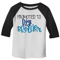 Shirts By Sarah Boy's Toddler Promoted To Big Brother 3/4 Sleeve Raglan