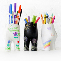 Tushiez - 5 Inch size - DIY Dolls - Craft Canvas - Black or White - Glossy or Matte Finish - Erase Chalk Board - Accessories Not Included