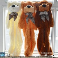 Super Affordable 200CM 3 Colors Giant Teddy Bear Skin Coat Soft Adult Coat Plush Toys Friends Kids Birthday Christmas DIY Gift
